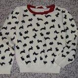 кофта хб вязка Нм 2 - 4 года свитер нарядный девочке 3 большой выбор одежды 1-16лет