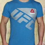 Футболка мужская Reebok UFC голубая.