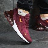 Кроссовки мужские Nike Air Max 270 burgundy, Топ качество