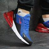 Кроссовки мужские Nike Air Max 270 blue/red, Топ качество