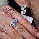 Срібний набір 5015, серебряный набор, срібло Україна серебряные украшения