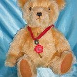 шикарный мохеровый Мишка Медведь Teddy Hermann Германия оригинал солома 35 см