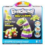 Bunchems Конструктор липучка Банчемс светящийся Парк Динозавров 200 Glow n The Dark Dinosaur Pack