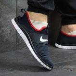 Кроссовки сетка Nike Free Run 3.0 dark blue/red