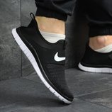 Кроссовки сетка Nike Free Run 3.0 black/white