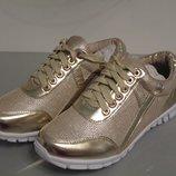 Красивенные золотистые кроссовки хорошего качества. Размер 36