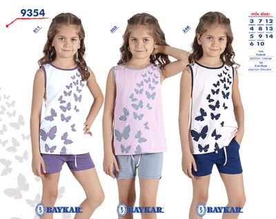 Пижама для девочки летняя мод.9354 Baykar