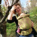 Sling Art backpack Feather Mokko от 5-6кг до 2-3 лет