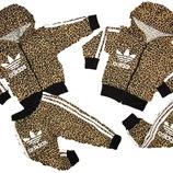 Летний спортивный костюм adidas, размеры на рост 92 - 122