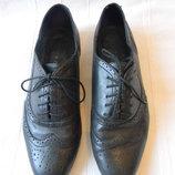 Муж.кожаные туфли Pesaro р.39-40,ст.26см