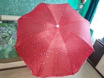 Зонт пляжный 5 цветов, d 150см, длина 180см