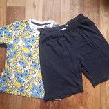 Пижама для мальчика миньоны размер 134-140, 23-150 Ю