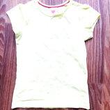 Яркая детская футболка желтого цвета размер 98/104 15-69 M1