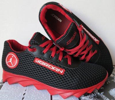Jordan летние черные с красным мужские подростковые кроссовки сетка кожа