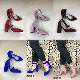 Туфли замшевые на каблуке, р. 36-40, код es-1082-1