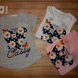 Дитячі футболки для дівчаток Fashion 98/128 р