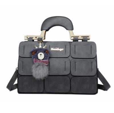 ec1821829981 Красивая сумка женская серая с брелком Мишка код 3-296  625 грн ...