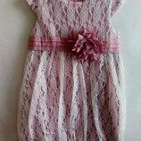 Choupette.Платье нарядное с ажурным кружевом
