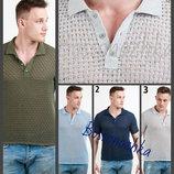 Вязаная футболка, поло, мужская, легкая, украинский производитель