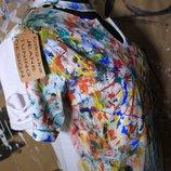 Тренд стильная футболка кляксы любой размер Краски специальные- можно стирать