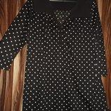 Удлиненная рубашка -блуза в мелкий горох next