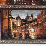 Картина из янтаря,з бурштину ,,Киев вечерний
