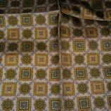 Мужской шелковый карманный платок.Италия