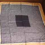платок Fabiani roma оригинал шелк 75Х75 принт Строгий косынка Hermes Chanel