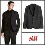 Чёрный пиджак летний лёгкий 44 евро от h&m