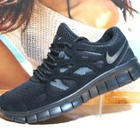 Кроссовки мужские Nike Free Run Plus 2 черный 41р-46р