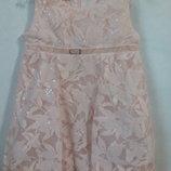 Платье-Баллон с пайетками Церемония ,персиковое.