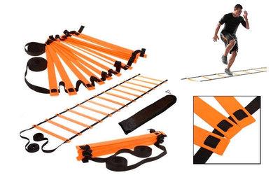 Координационная лестница дорожка для тренировки скорости 4351 длина 10 метров, 20 перекладин 10мx0