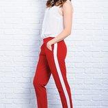 Красные женские брюки с лампасами 42-60р