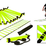 Координационная лестница дорожка для тренировки скорости 4606 длина 6м, 12 перекладин 6мx0,52мx4мм
