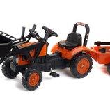Трактор педальный детский Falk 2065AM Kubota передний ковш и прицеп