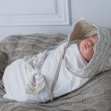 Конверт плед на выписку летний для новорожденных 4 вида
