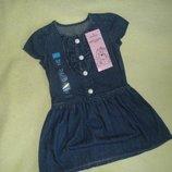 Джинсовое платье для девочки.новое ,размер 98см ,2-3 года.новое gloria jeans