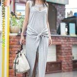 летнее длинное платье сарафан с разрезом Аврора Я 00158