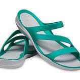 Crocs Swiftwater Sandal W5 р.35 крокс шлепанцы сандалии мята