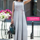 летнее свободное платье сарафан в пол Сакура Я 0032