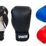 Перчатки боксерские на липучке Sportko PD-2, 3 цвета 8-12 унций кожвинил