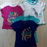 Дитячі футболки фірма Lupilu 110-116, 86-92