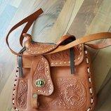 кожаная сумка ручной работы Мексика