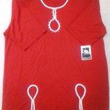 Женская красная футболка жіноча червона футболка