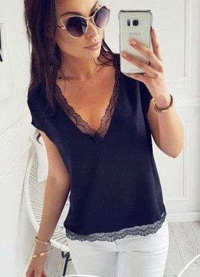 Женская блуза с кружевом Есения.размер 42-48