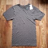 Серая футболка премиум коллекция размер M, 23-96 Ю