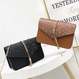 Элегантная сумка клатч с блестками и звездами В Наличии