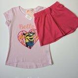 Детская пижама, домашний костюм Minion на девочку 1-2 года, рост 86-92
