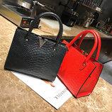 Модная женская сумка под кожу питона V В Наличии