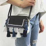 Элегантная женская сумка с бубончиками В Наличии